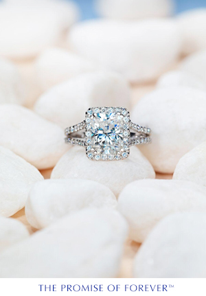 Unique Moissanite Ring